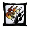 BEAR PRIDE PAW/PAW ME Throw Pillow
