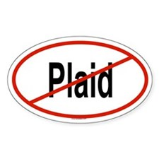 PLAID Oval Bumper Stickers