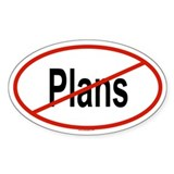 PLANS Oval Decal