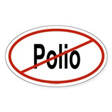 POLIO Oval Decal