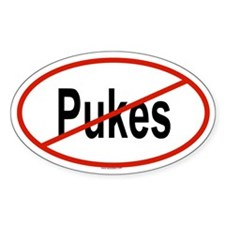 PUKES Oval Decal