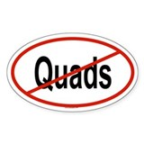 QUADS Oval Decal