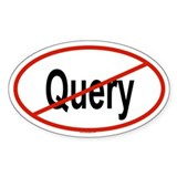 QUERY Oval Decal