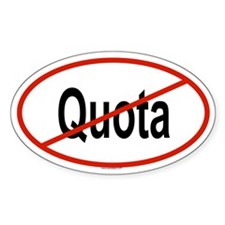 QUOTA Oval Decal