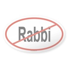 RABBI Oval Decal