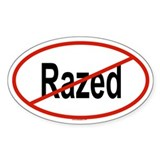 RAZED Oval Decal