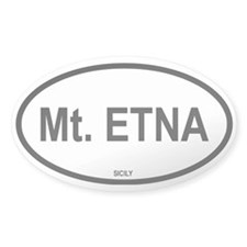 Mt. Etna Oval Decal