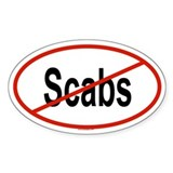 SCABS Oval Decal