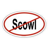 SCOWL Oval Decal