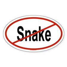 SNAKE Oval Decal