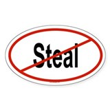STEAL Oval Decal