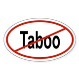 TABOO Oval Decal