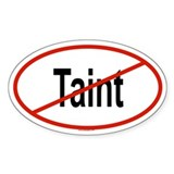 TAINT Oval Decal