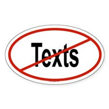 TEXTS Oval Decal
