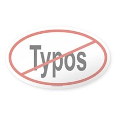 TYPOS Oval Decal