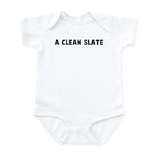 A clean slate Infant Bodysuit