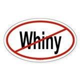 WHINY Oval Decal