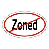 ZONED Oval Decal