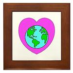 Love Our Planet Framed Tile