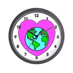Love Our Planet Wall Clock
