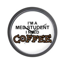 Med Student Need Coffee Wall Clock
