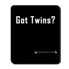 Got Twins? Black Mousepad