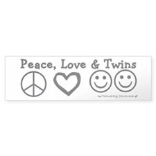 Peace, Love & Twins Bumper Bumper Sticker