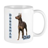 Dobie(rust) Dad4 Small Mug