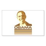 Barack Obama (Retro Brown) Rectangle Sticker