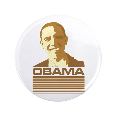 "Barack Obama (Retro Brown) 3.5"" Button"