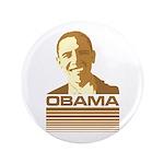 """Barack Obama (Retro Brown) 3.5"""" Button"""