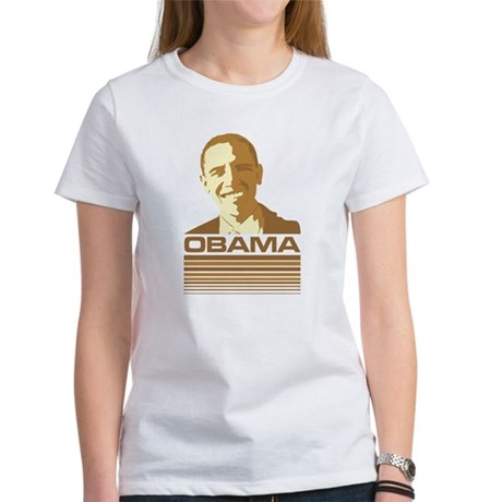 Barack Obama (Retro Brown) Women's T-Shirt
