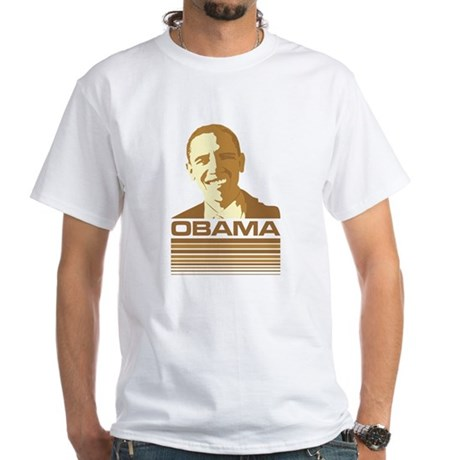 Barack Obama (Retro Brown) White T-Shirt