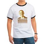 Barack Obama (Retro Brown) Ringer T