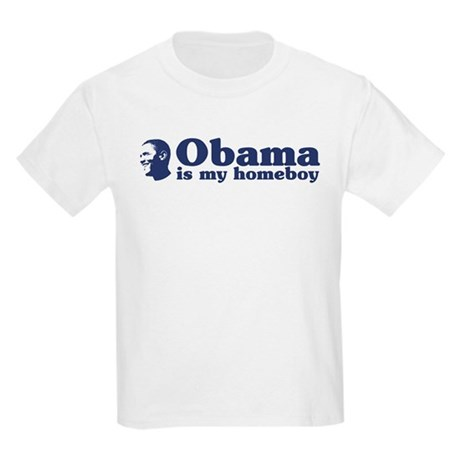 Obama is my homeboy Kids Light T-Shirt