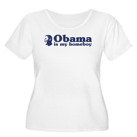 Obama is my homeboy Women's Plus Size Scoop Neck T