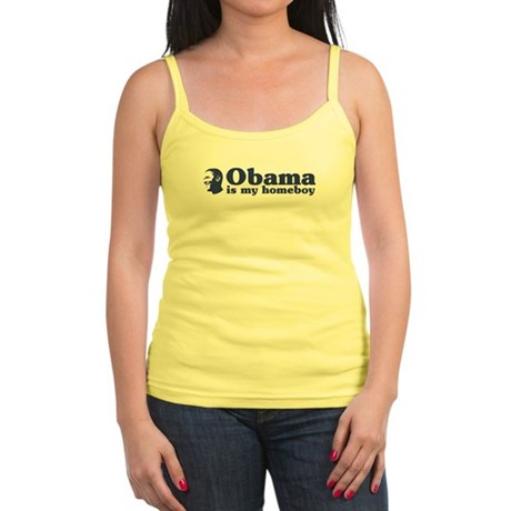Obama is my homeboy Jr. Spaghetti Tank
