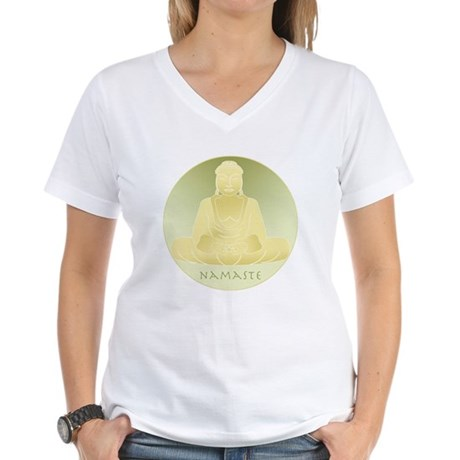 Yoga Buddha 4 Women's V-Neck T-Shirt