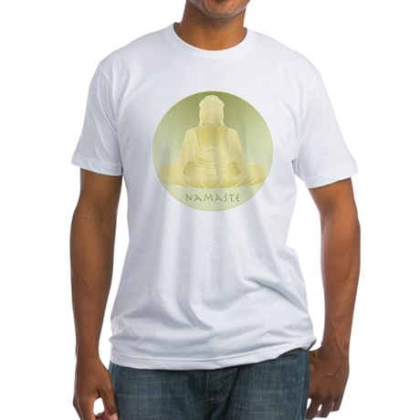 Yoga Buddha 4 Fitted T-Shirt