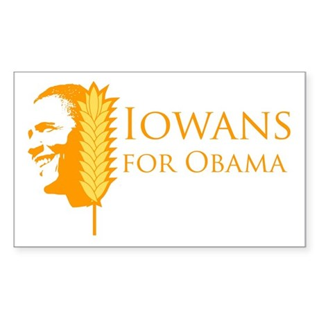 Iowans for Obama Rectangle Sticker