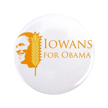 "Iowans for Obama 3.5"" Button"