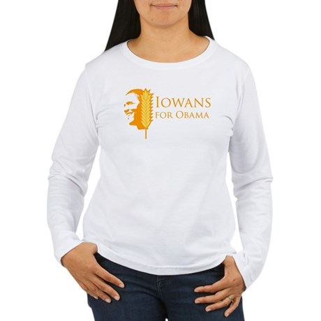 Iowans for Obama  Womens Long Sleeve T-Shirt