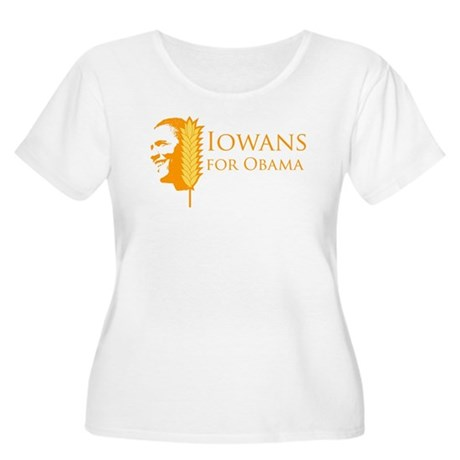 Iowans for Obama  Womens Plus Size Scoop Neck T-S