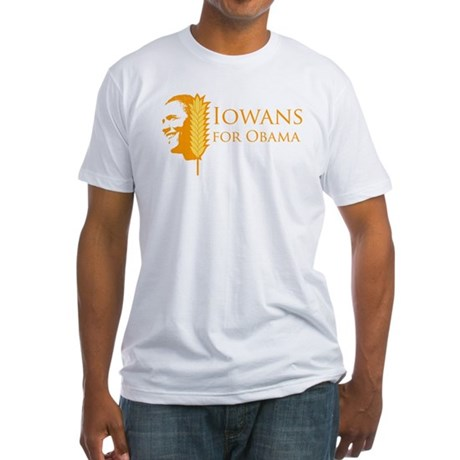 Iowans for Obama  Fitted T-Shirt