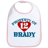 PROPERTY OF (12 heart) BRADY Bib