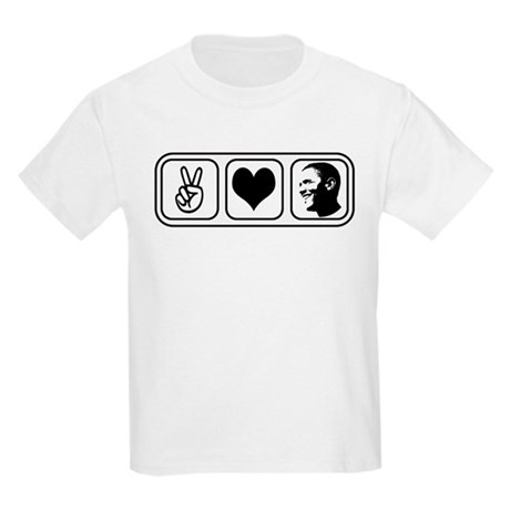 Peace Love Obama Kids Light T-Shirt