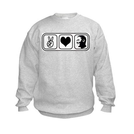 Peace Love Obama Kids Sweatshirt