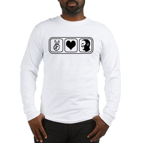 Peace Love Obama Long Sleeve T-Shirt