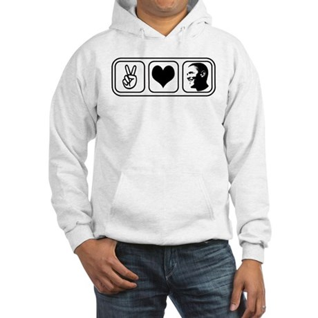 Peace Love Obama Hooded Sweatshirt