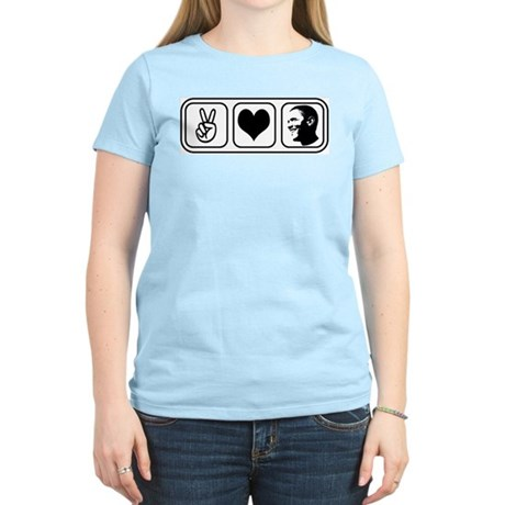 Peace Love Obama Womens Light T-Shirt